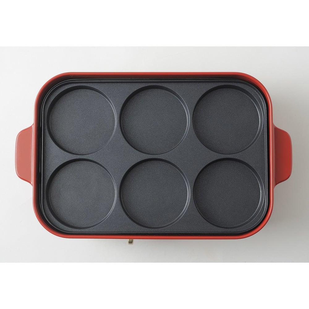 BRUNO/ブルーノ コンパクトホットプレート用 マルチプレート 別売りのホットプレート設置時イメージ