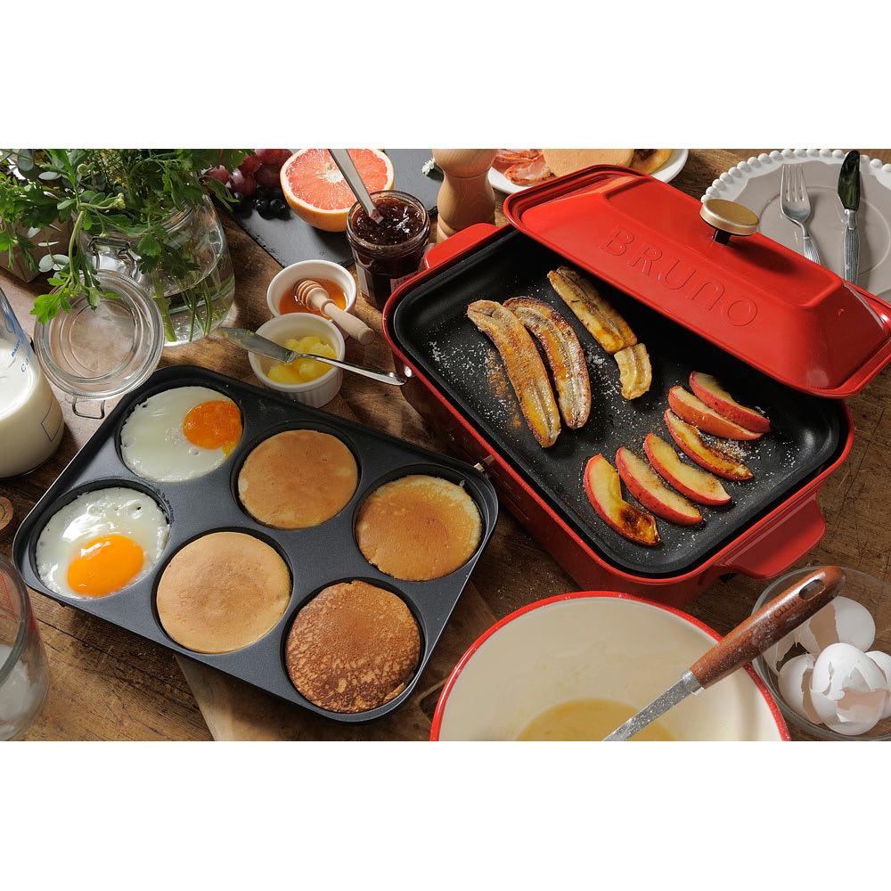 BRUNO/ブルーノ コンパクトホットプレート用 マルチプレート 目玉焼きとホットケーキを焼けばオシャレなブランチが楽しめます!