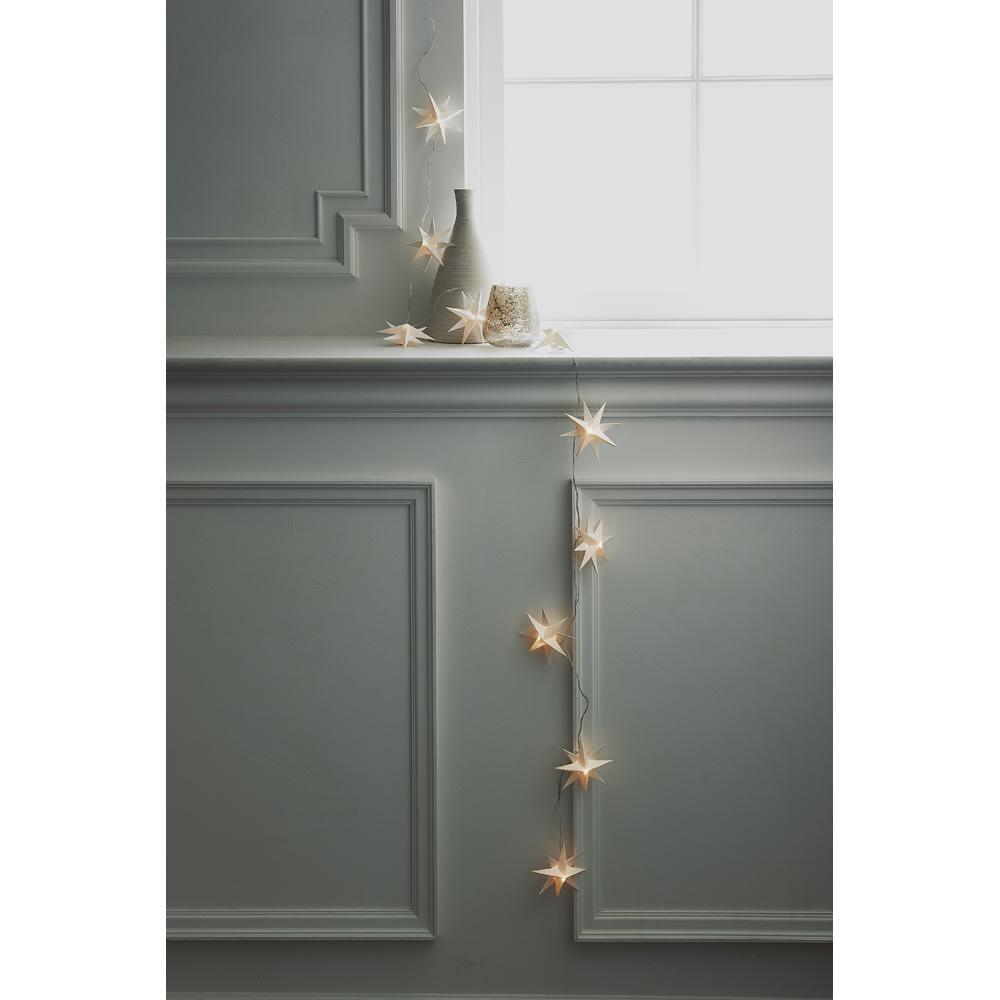 LEDライト ガーランド(電池式) 使用イメージ 窓辺にさらっと飾っても素敵!