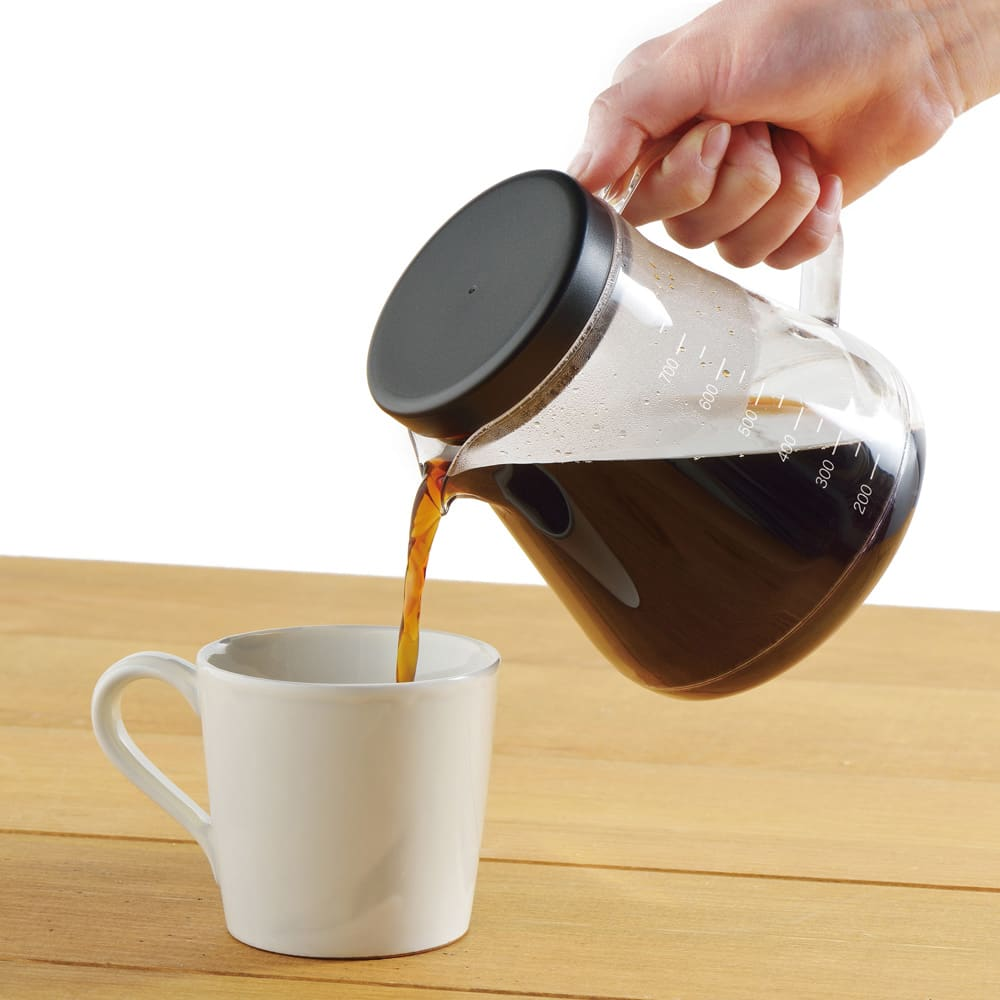 コーヒーサーバーストロン2WAドリッパー 水切れがよくすすぎやすい口形状です。(こちらはイメージカットです。お届けする蓋の色は白です)