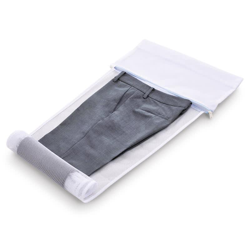 シャツとパンツのための洗濯ネット シャツ用・パンツ用各1枚セット すその方からロールシートを巻いていきます