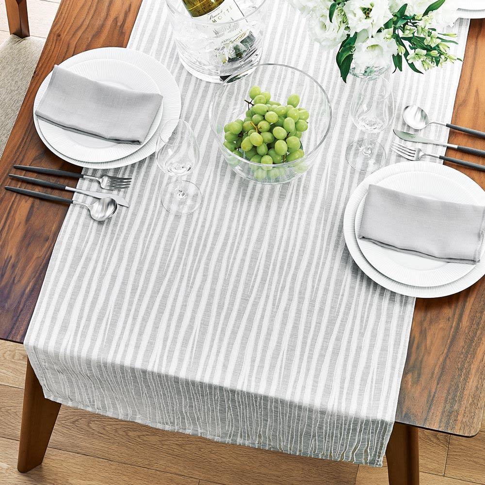 撥水加工 ジャカード織のクロスシリーズ テーブルクロス 色見本(ア)シルバー系 ※写真はテーブルランナーです。お届けはテーブルクロスになります。