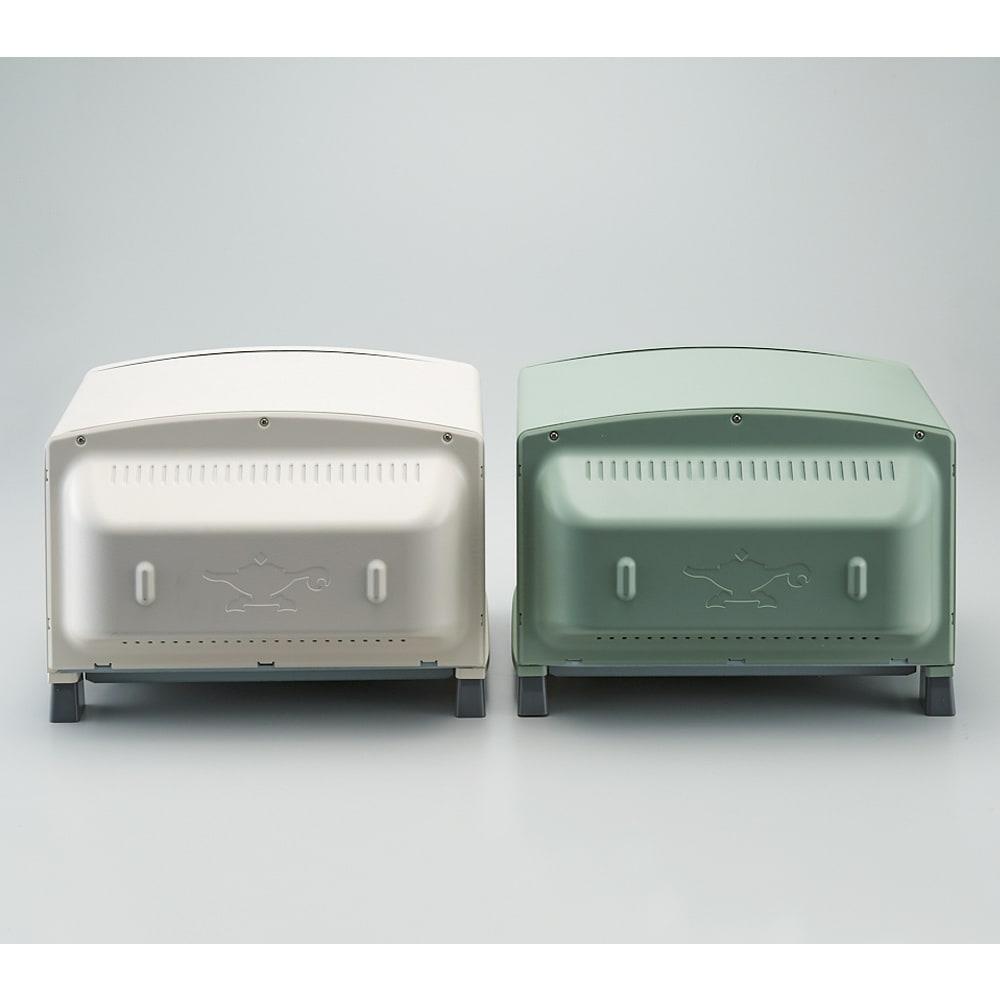 アラジン グリルアンドトースター 背面も塗装仕上げとなり、カウンターに置いても見た目が美しいです。 ※左のホワイト色はお取り扱いのないカラーになります。