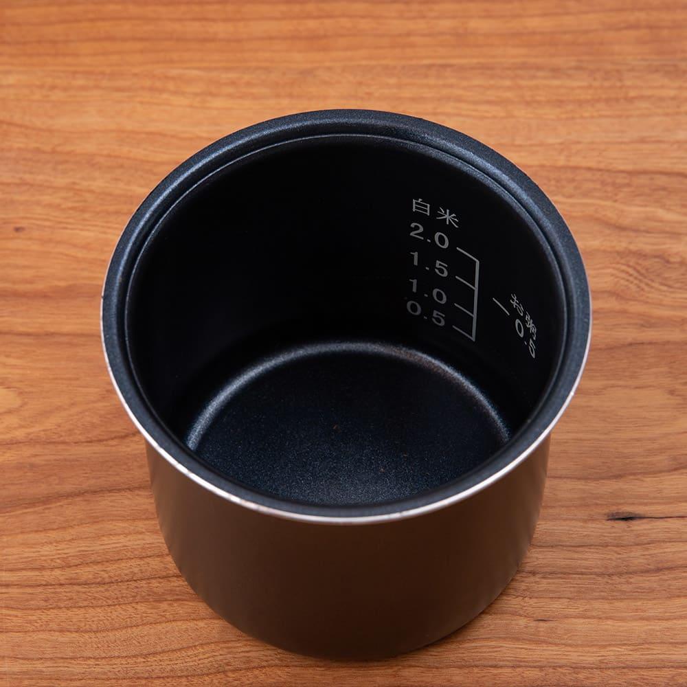 ミニライスクッカー 0.5~2合が炊飯できます! メモリ付き