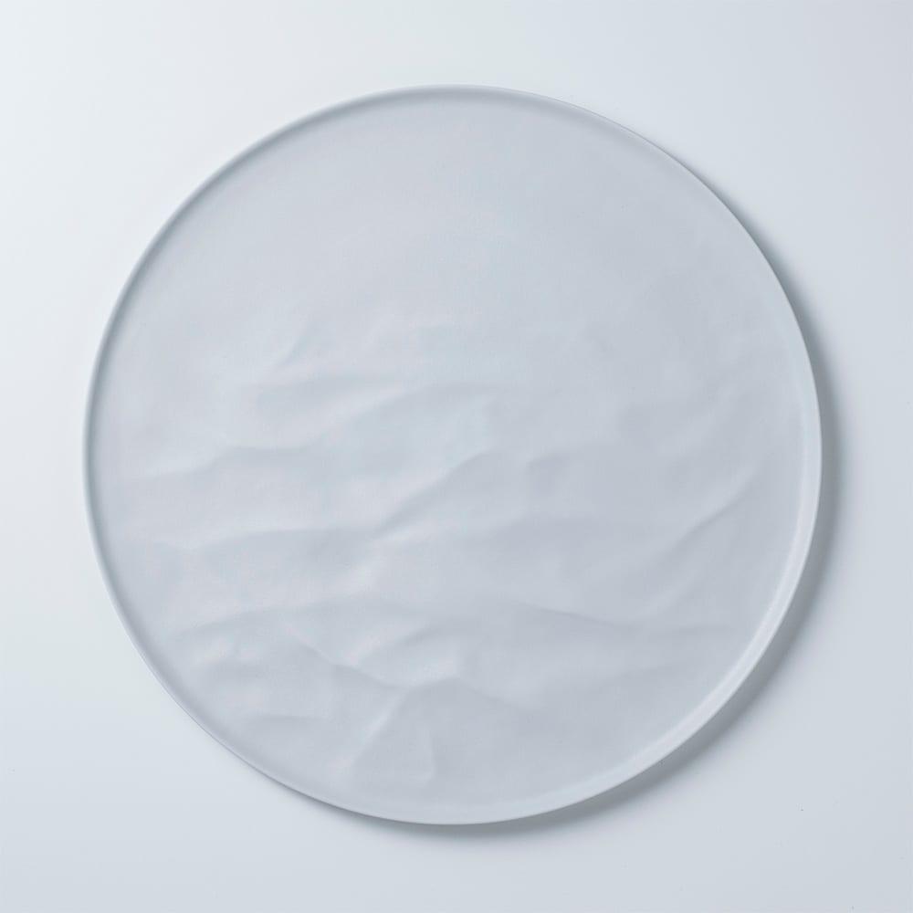 ARAS お皿27.5cm ウェーブ 割れないお皿 (ア)ホワイト(ライトグレー)