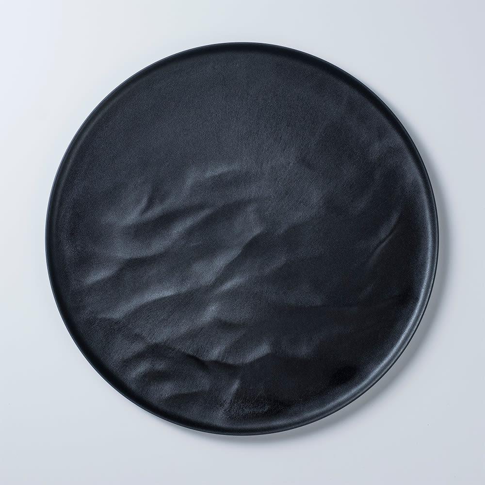 ARAS お皿27.5cm ウェーブ 割れないお皿 (イ)ブラック