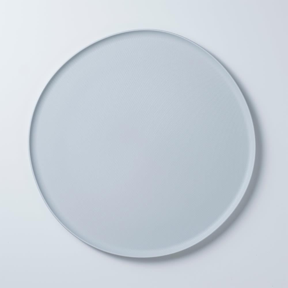 ARAS お皿27cm モアレ 割れないお皿 (ア)ホワイト(ライトグレー)