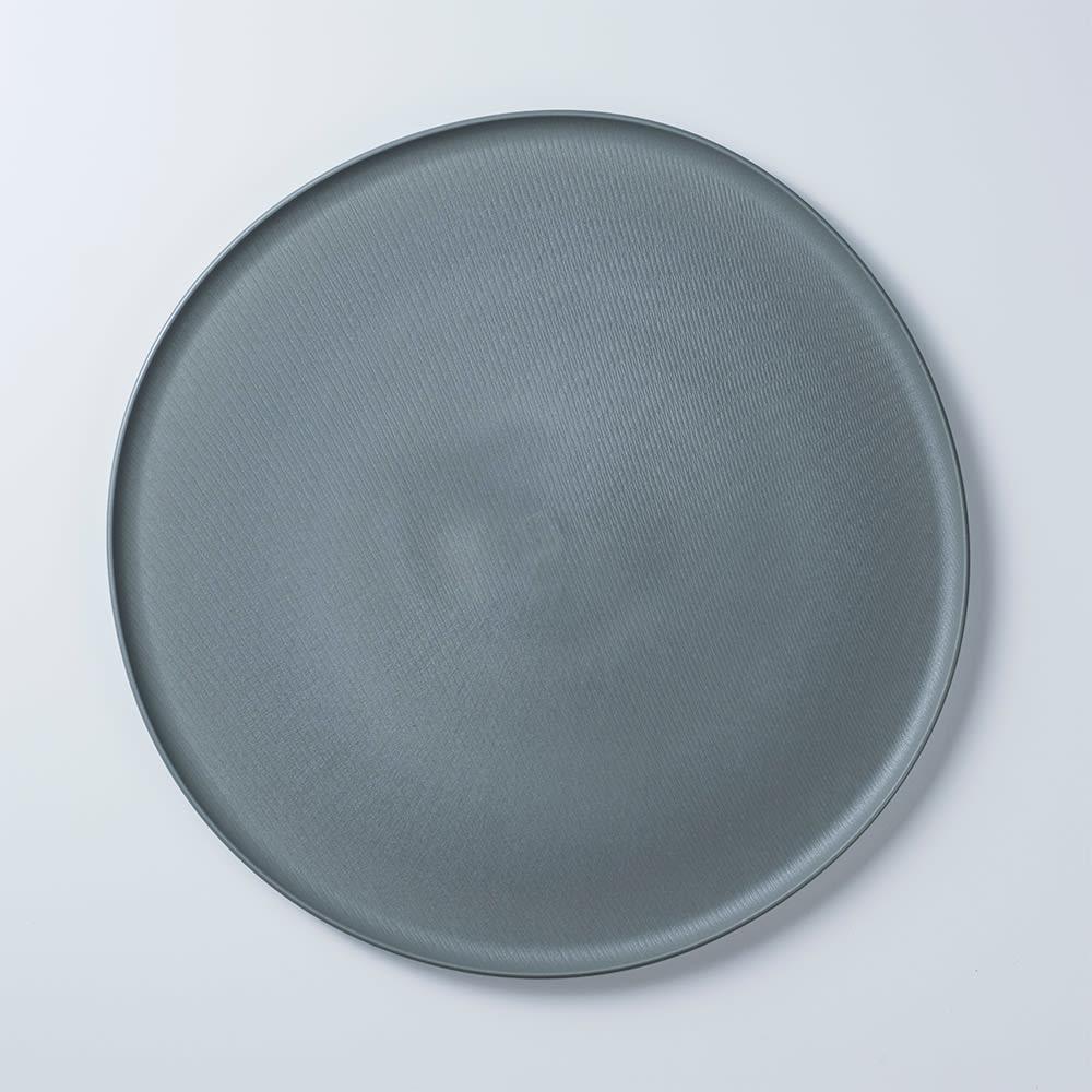 ARAS お皿27cm モアレ 割れないお皿 (エ)グリーングレー