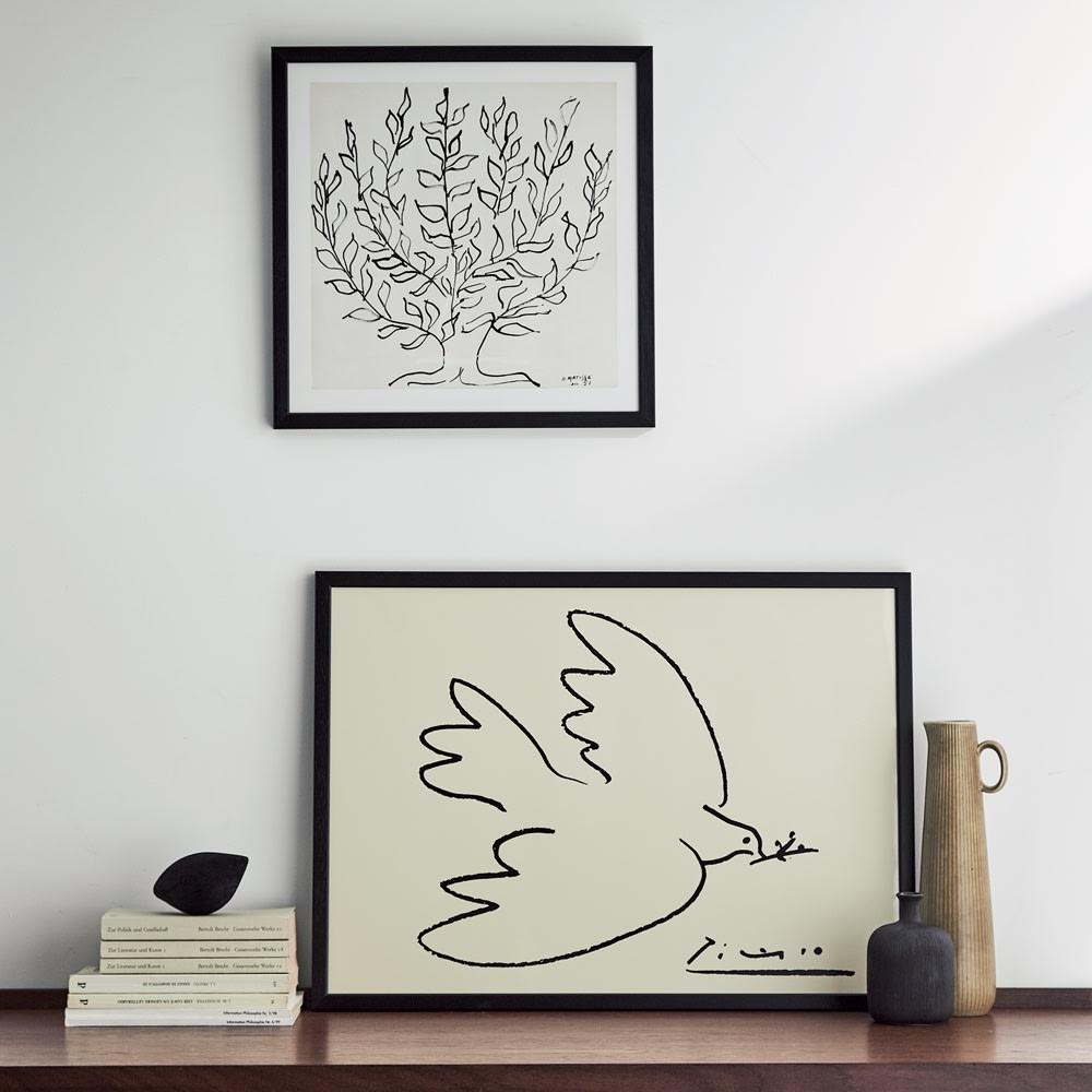 マチスのアート 低木 (イ)ブラック お届けするのは上の「低木」です。