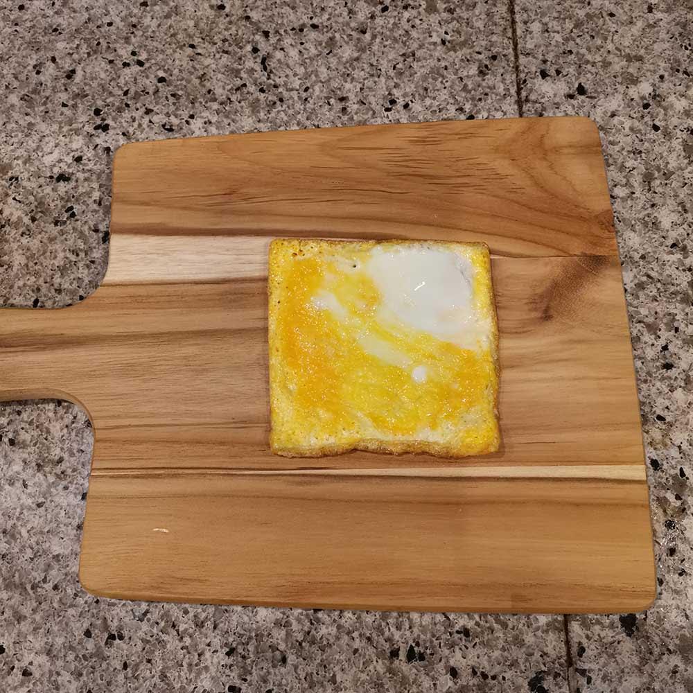 サンドウィッチガイド こんなに四角く焼き上がります