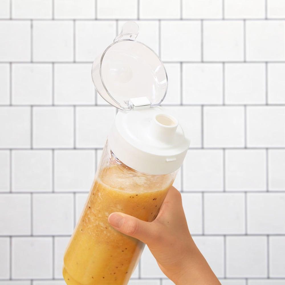 ボトルブレンダー付きミキサー 良く混ざったらドリンクキャップに付け替えてそのまあ飲めます