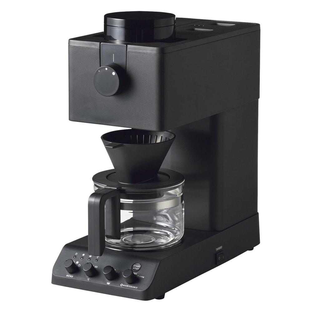 「カフェ・バッハ」 田口護氏監修 全自動コーヒーメーカー3杯用 (TWINBIRD CM-D457B) スリムなので、カウンター上にも置けます。