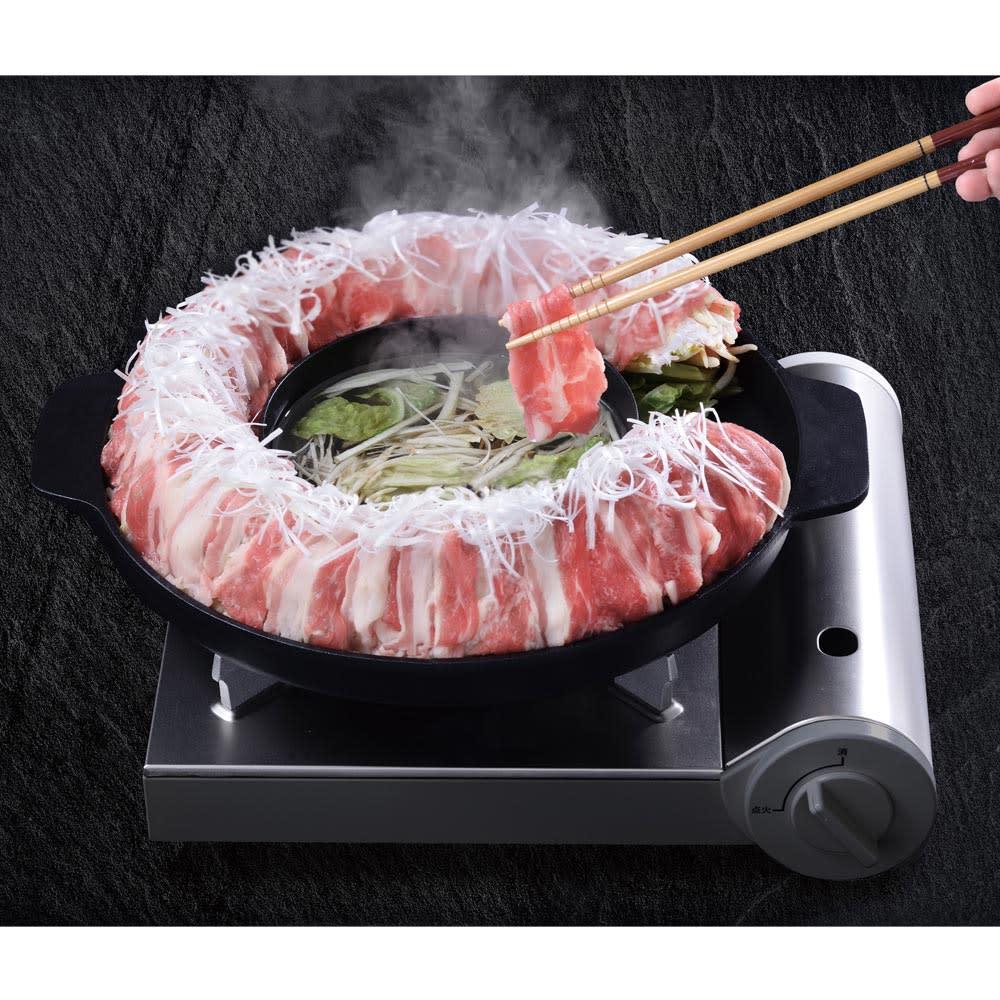 ディノス オンラインショップ魅せ盛り 肉ドーナッツ鍋30cm
