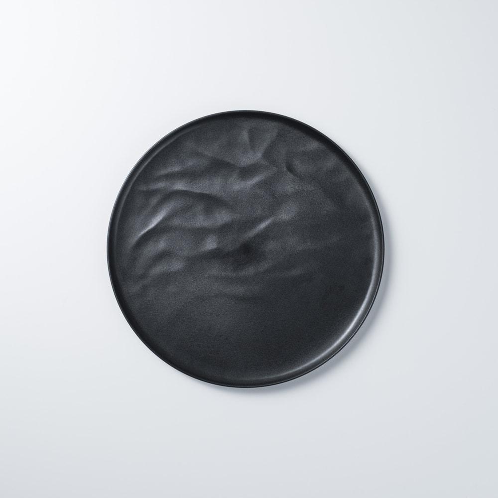 ARAS 中皿ウェーブ22cm 割れないお皿 (イ)ブラック