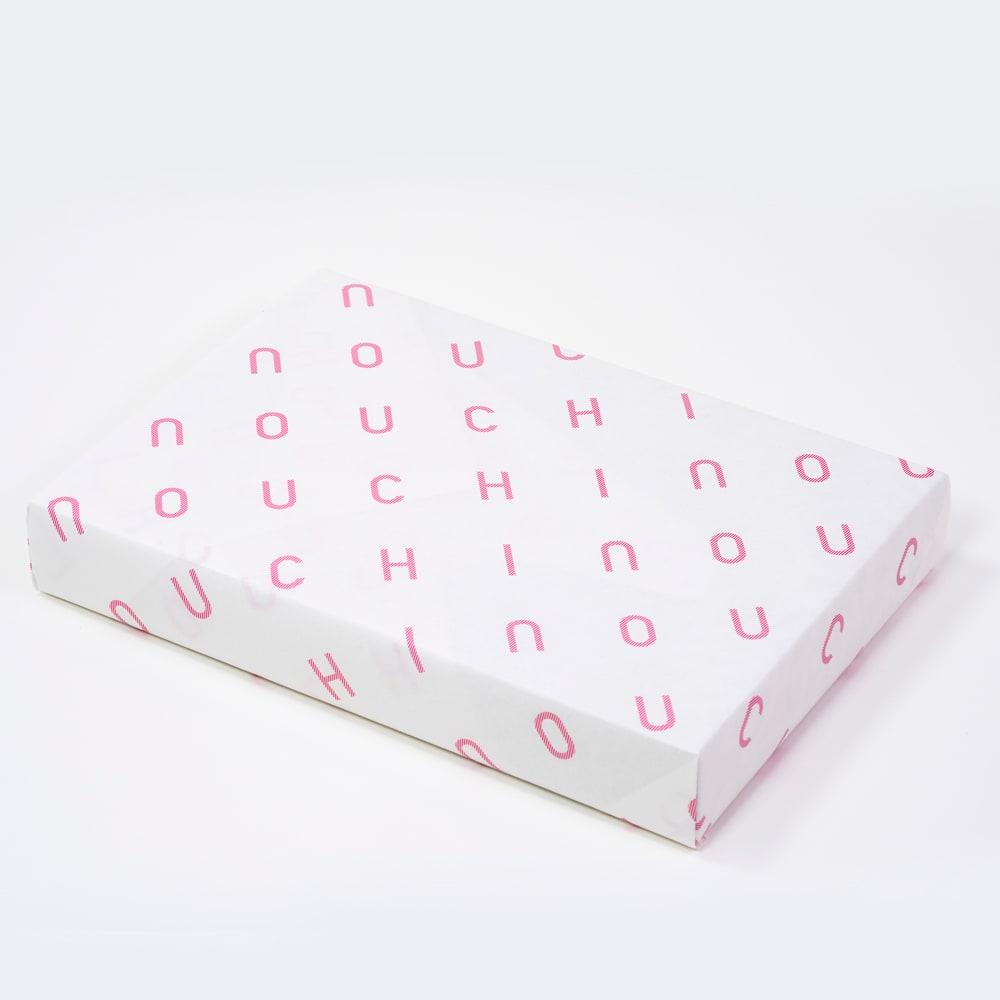 UCHINO/ウチノ ラッピング済みギフト プレミアムリッチギフト:ゲストタオル2枚 ラッピング見本 ウチノの包装でラッピング済み。(箱はイメージです)