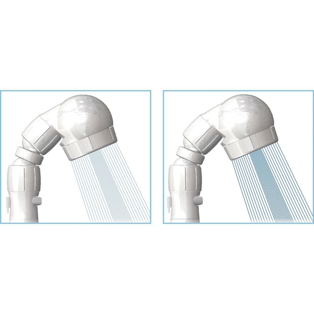 節水&水圧アップシャワーヘッド 「スカルプケア」モデル 3Dアース手元ストップシャワー ソフト水流は洗顔や敏感肌の方、乳幼児に。ハード水流は頭皮洗浄やお風呂掃除に。