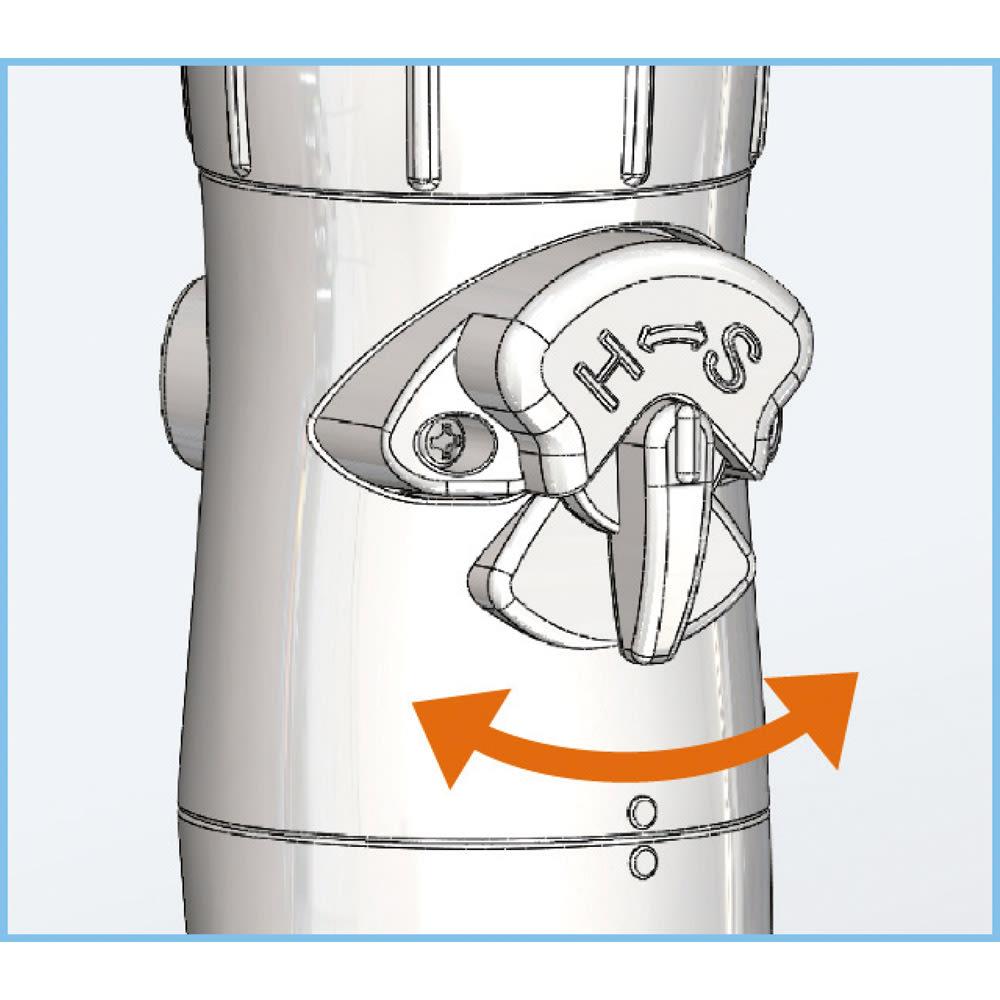 節水&水圧アップシャワーヘッド 「スカルプケア」モデル 3Dアース手元ストップシャワー 切替ボタンで水流切替。