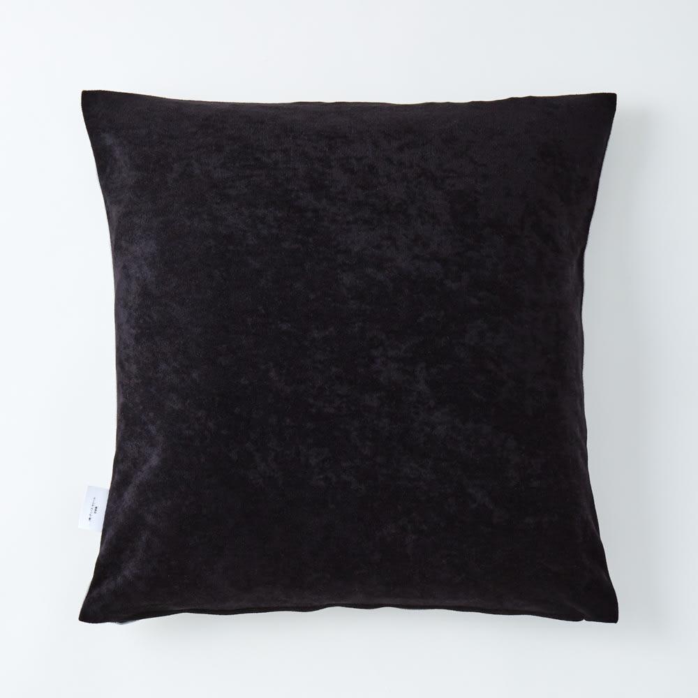 ムーミン 日本製ジャガード織クッションカバー 1枚 エ:グレー(裏生地色:ブラック)