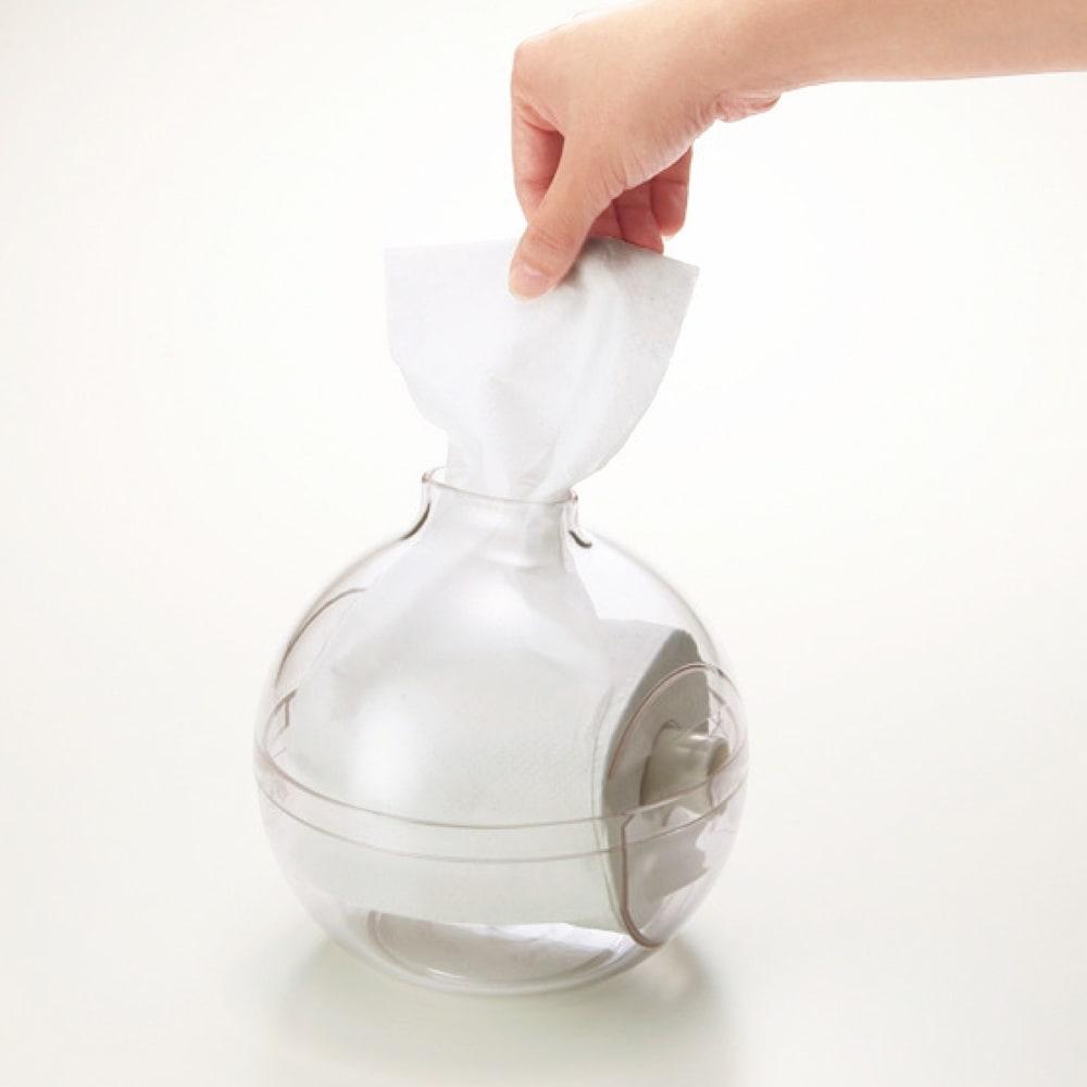 ムーミン ペーパーPot 1個 ペーパーセット方法(イメージ画像) トイレットペーパー