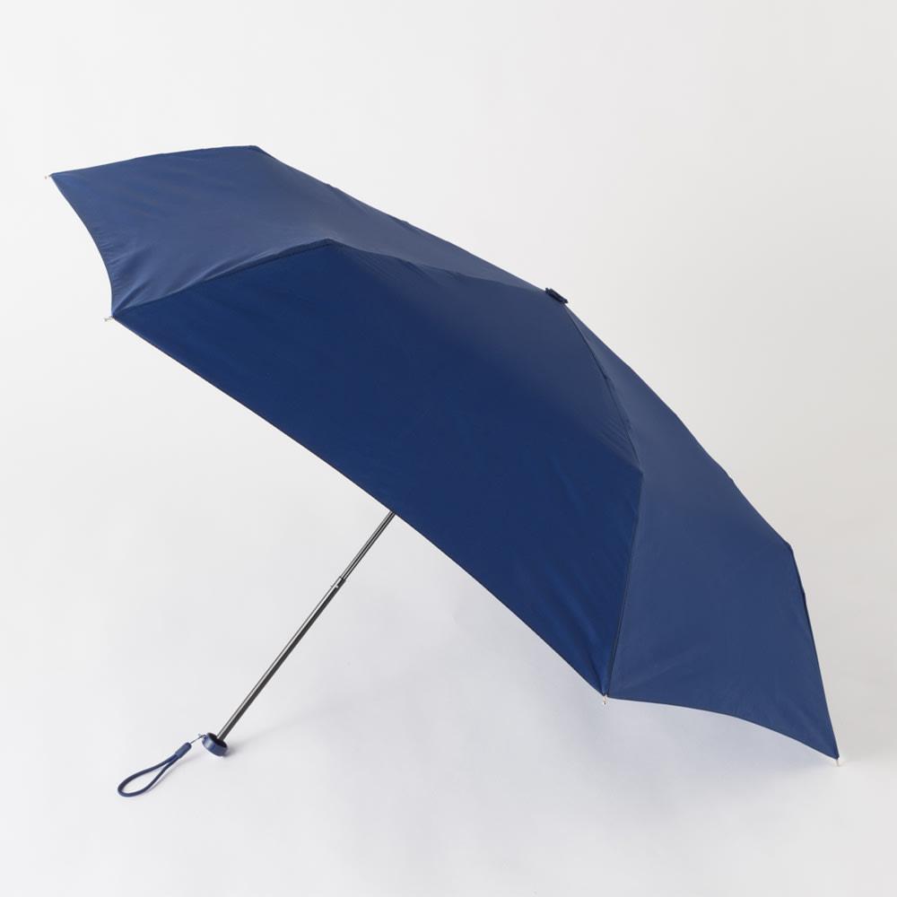 フロータス 高撥水軽量折畳傘 55cm (ア)ネイビー