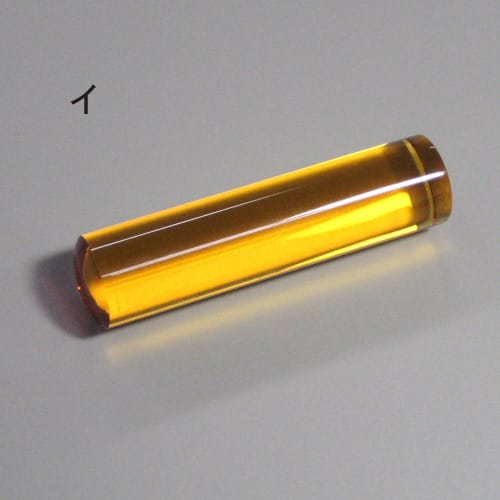 色が選べる水晶印鑑 同色2本セット(実印・銀行印) 黄水晶は、金運・財運を呼び、繁栄と富貴を ※石の意味はその効果を保障するものではありません