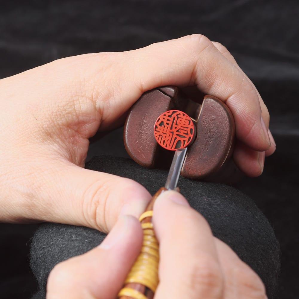 オランダ水牛印鑑 実印  熟練した職人による手仕上げ印鑑