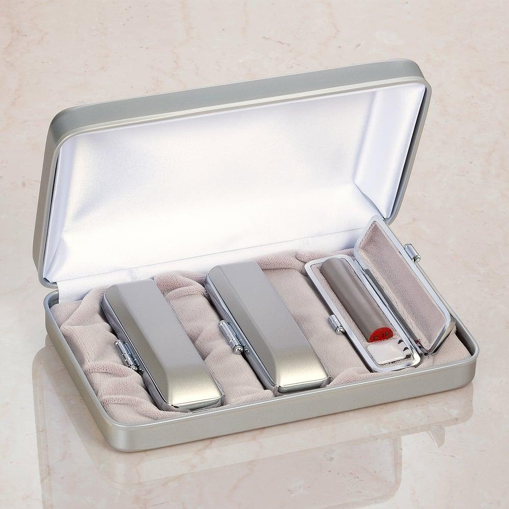 チタン印鑑 実印・銀行印・認印3本セット 専用ケース付き 実印・銀行印・認印3本セット