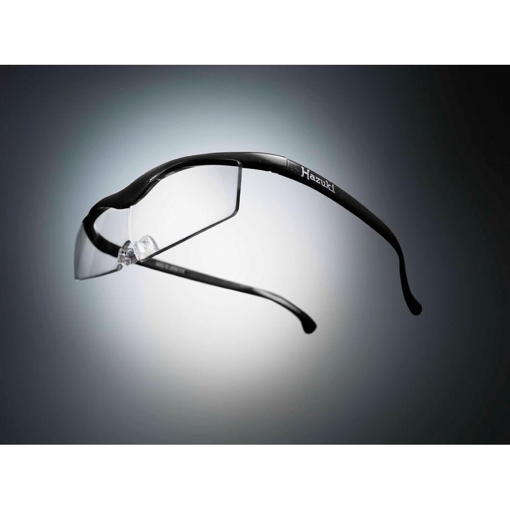 眼鏡型拡大鏡 ハズキルーペ コンパクト 1.6(ブルーライトカット 35% クリアレンズ) (キ)ブラック(WEB)…シックなブラックは男性にも人気です。