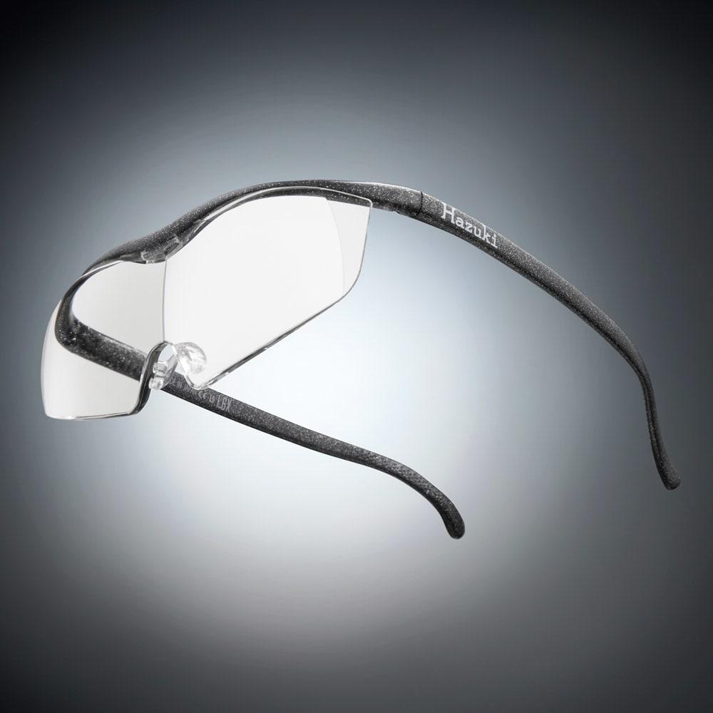 眼鏡型拡大鏡 ハズキルーペ ラージ1.6(ブルーライトカット35%  クリアレンズ) (エ)ブラックグレー