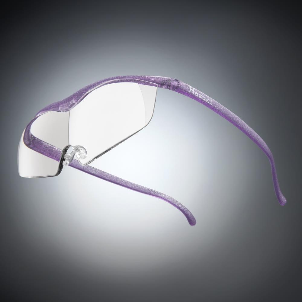 眼鏡型拡大鏡 ハズキルーペ ラージ1.85(ブルーライトカット35% クリアレンズ) (オ)ニューパープル