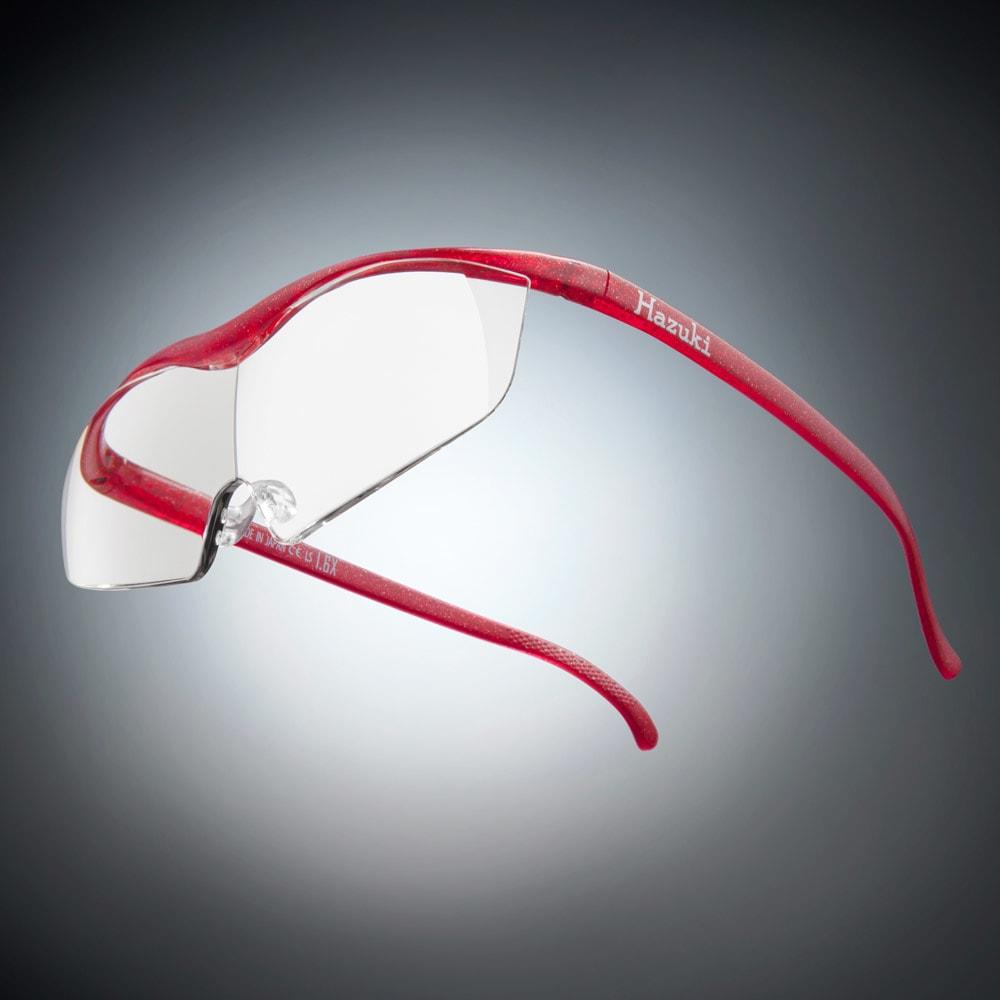 眼鏡型拡大鏡 ハズキルーペ ラージ1.85(ブルーライトカット35% クリアレンズ) (ウ)ルビー