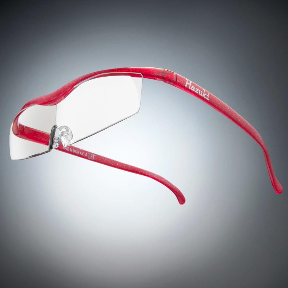 眼鏡型拡大鏡 ハズキルーペコンパクト1.6(ブルーライトカット55% カラーレンズ) (ウ)ルビー
