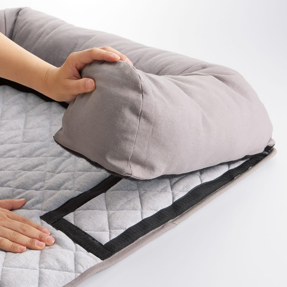 ソファを傷つけないペット専用ソファ「ソファオンソファ」 クッション部を取外してマット部は洗濯可能。