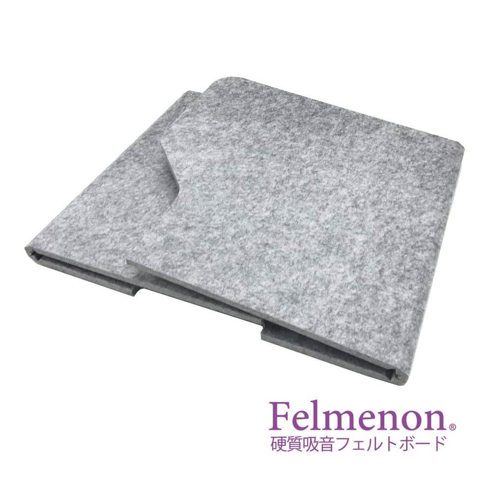 フェルメノン 高密度吸音フェルト製 デスクパーテーション 折りたたみ時:幅60cm(コンパクトサイズ)