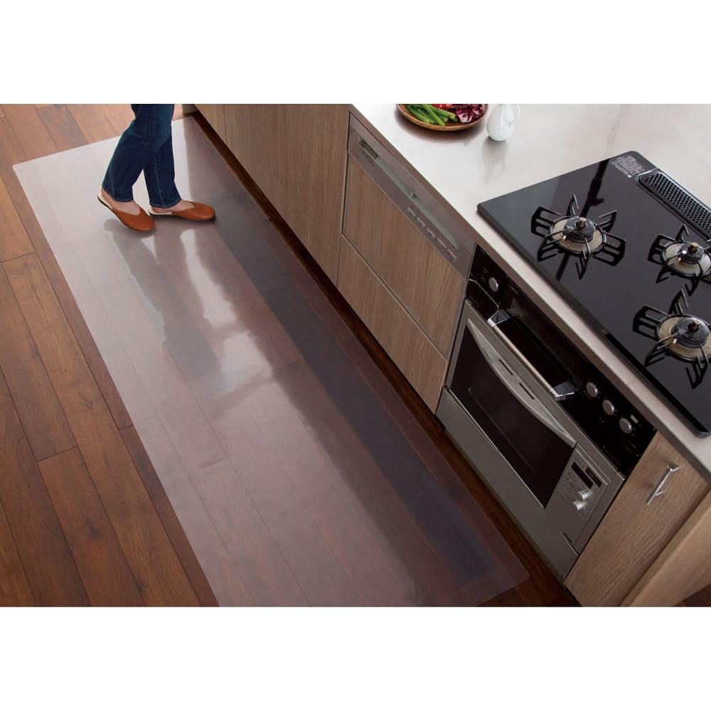 アキレス透明キッチンフロアマット(奥行60cm)