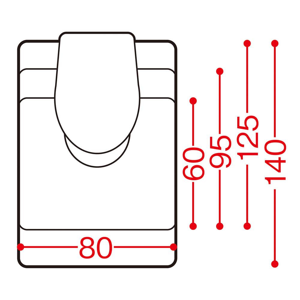 アキレス トイレ用 足元透明マット(抗菌剤配合) 幅80