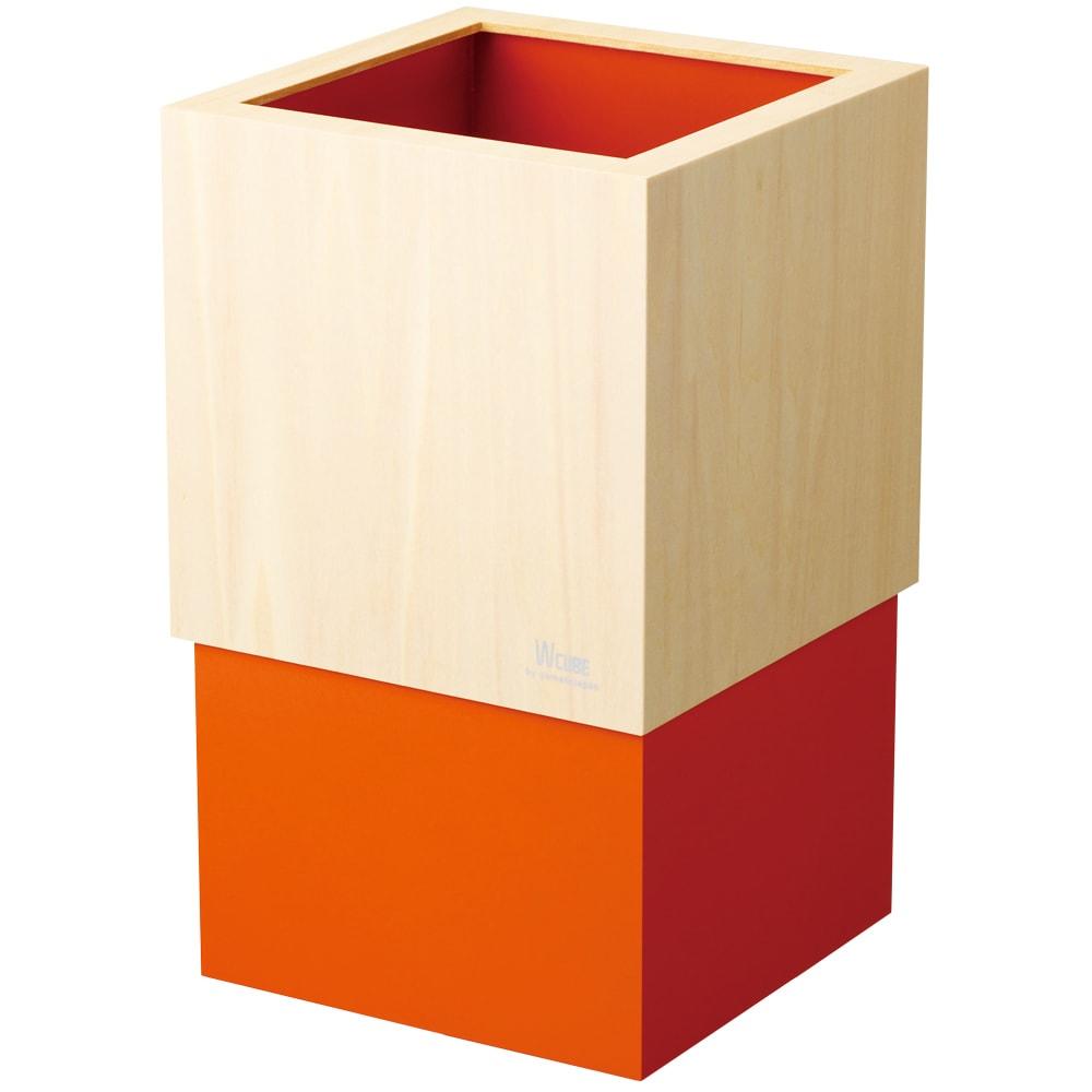 ヤマト工芸 キューブダストボックス (エ)オレンジ