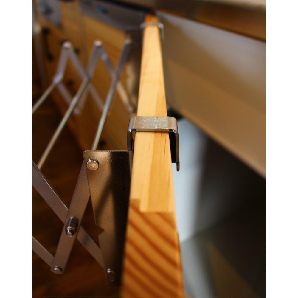 引き出し用伸縮式タオルハンガー
