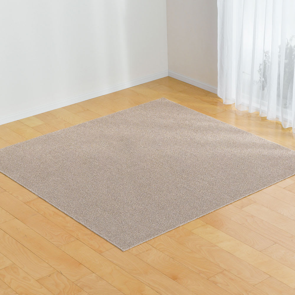 軽量はっ水綿ラグ 約190×290cm (イ)ブラウン