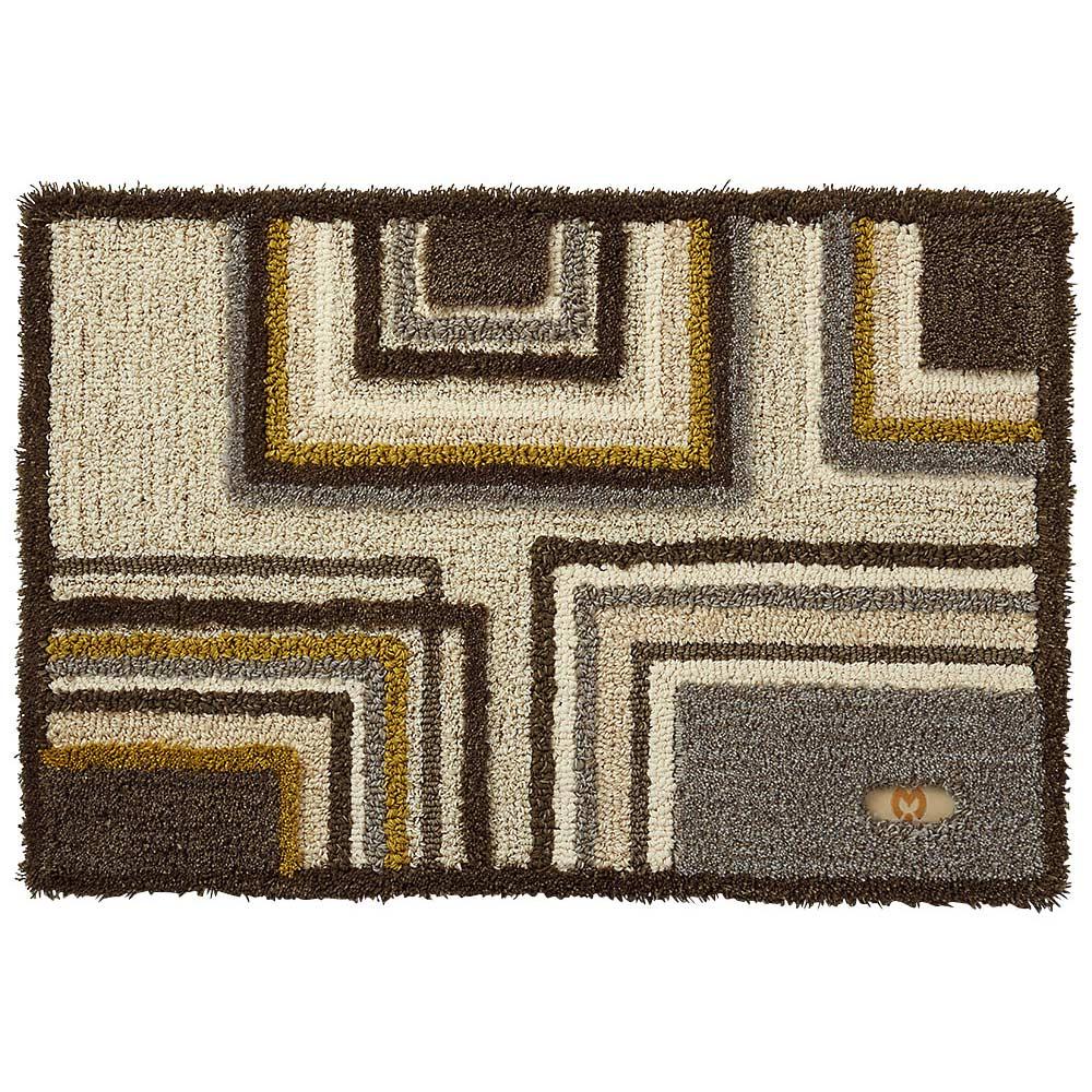 ミラ・ショーン玄関マット〈メイズ〉 (イ)ブラウン系 ※写真は約70×120cmサイズです。