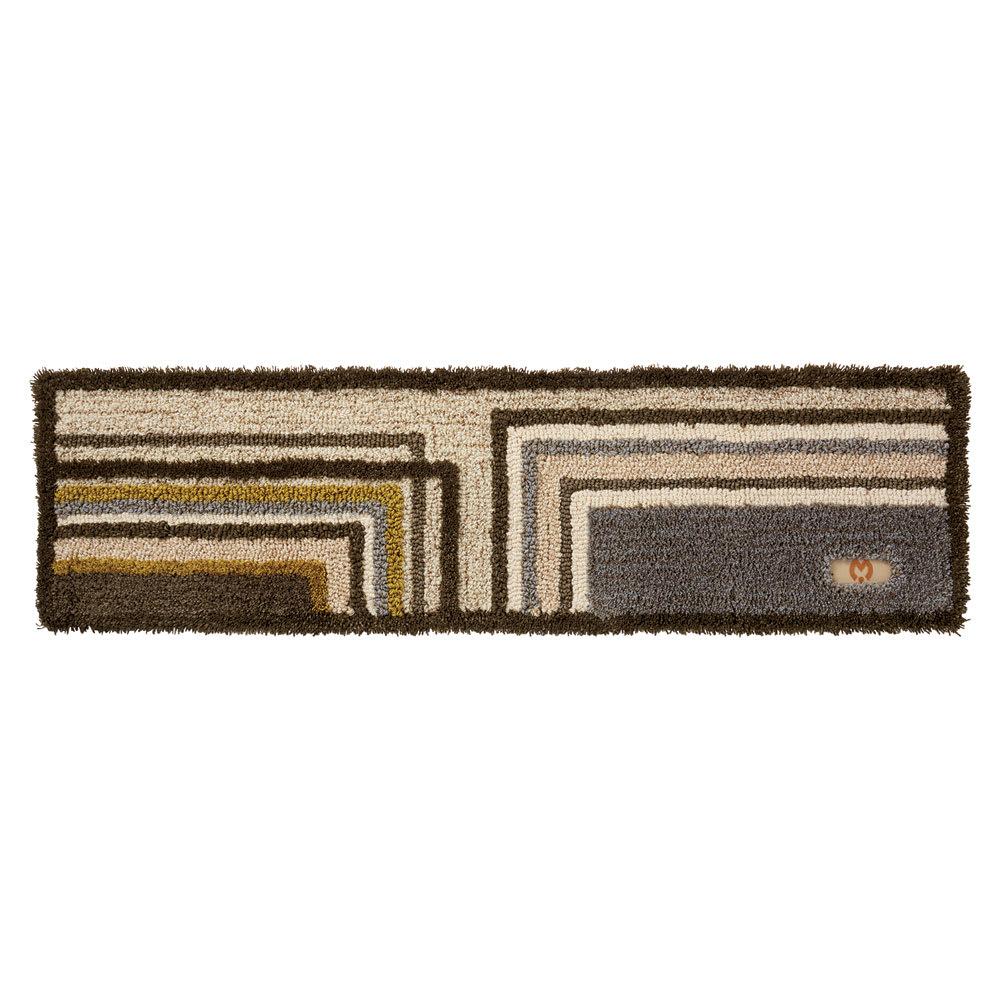 ミラ・ショーン玄関マット〈メイズ〉 (イ)ブラウン系 ※写真は約32×120cmサイズです。