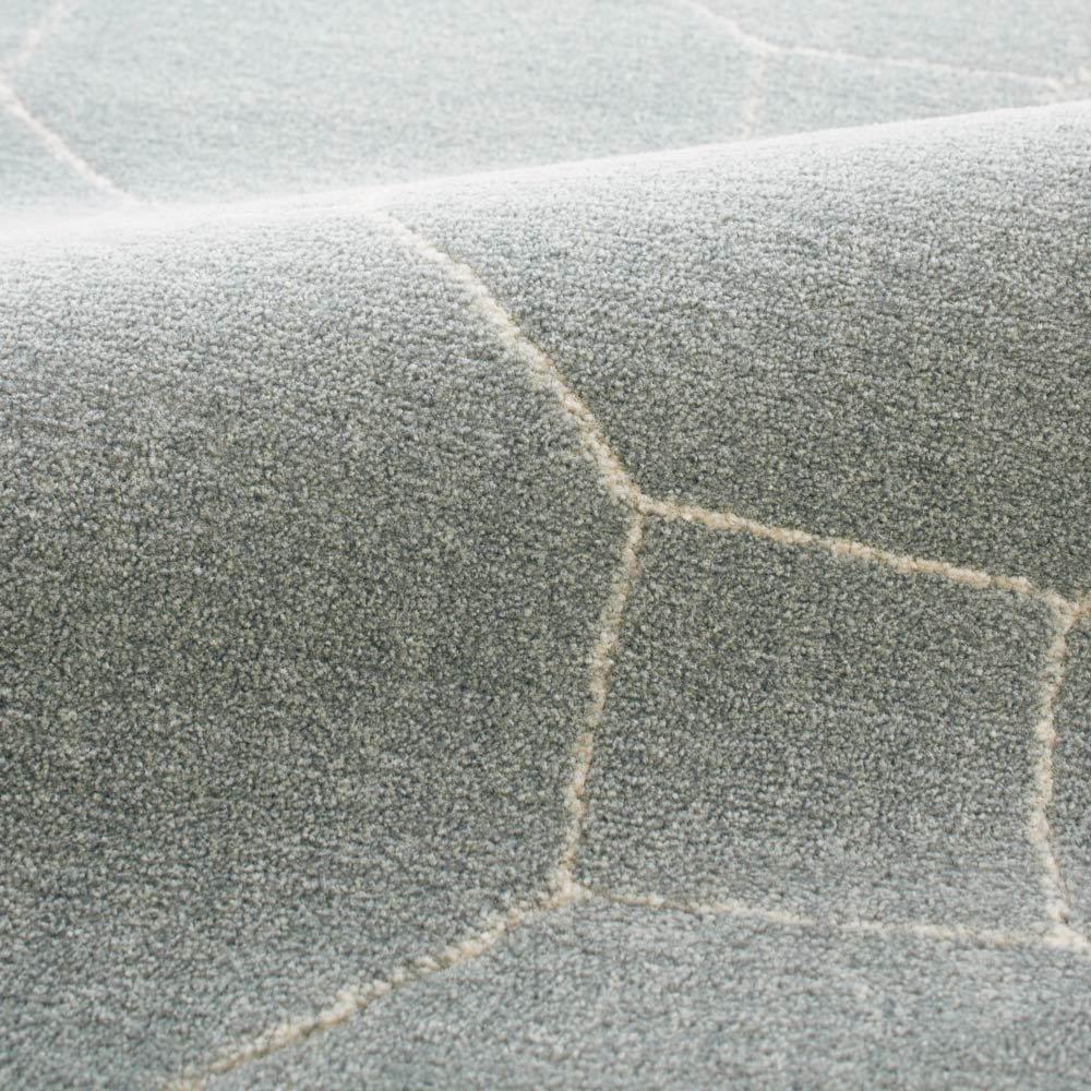 ベルギー製 Caldano/カルダノ ウィルトン織ラグ 約160×230cm [素材アップ]ブルーグレー 程よい毛足の長さと、しっかりとした踏み心地のラグです。