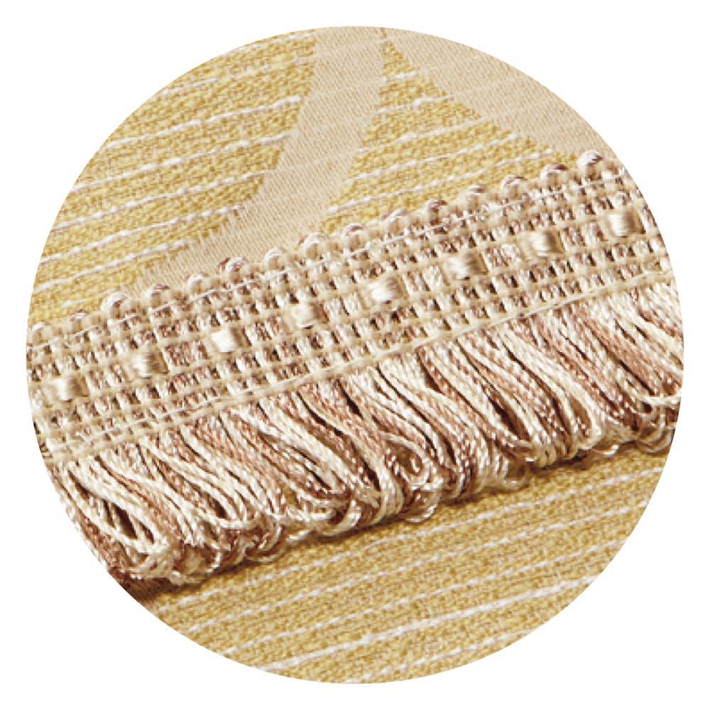 モロッコタイル柄 ジャカード織りソファカバー [アレックス] アームなしタイプ (イ)イエロー