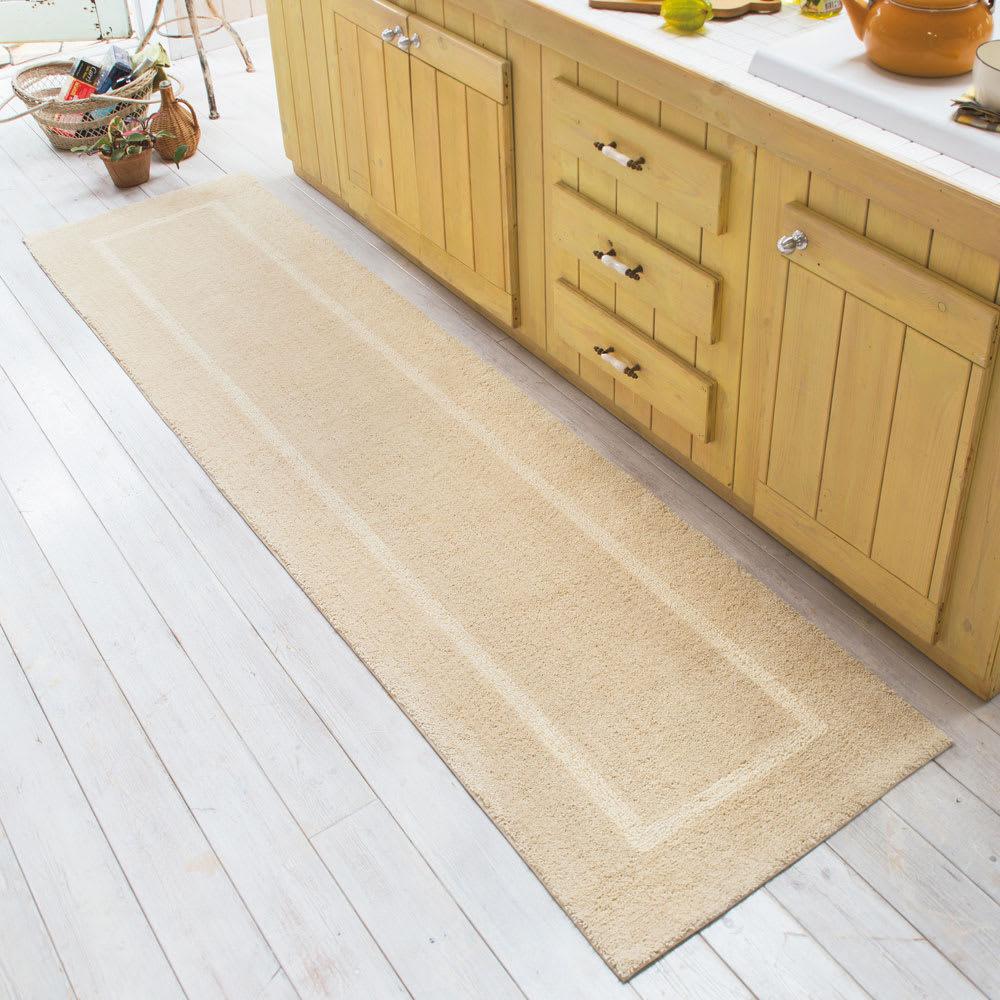 「乾度良好(R)」キッチンマット (ア)ベージュ 幅約60cm