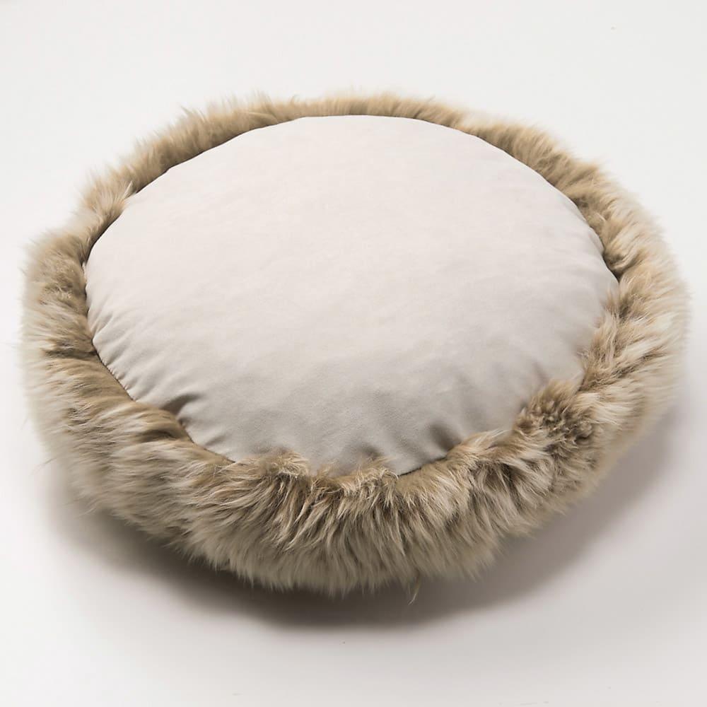 ミックスムートン クッション 円形(約径50cm)