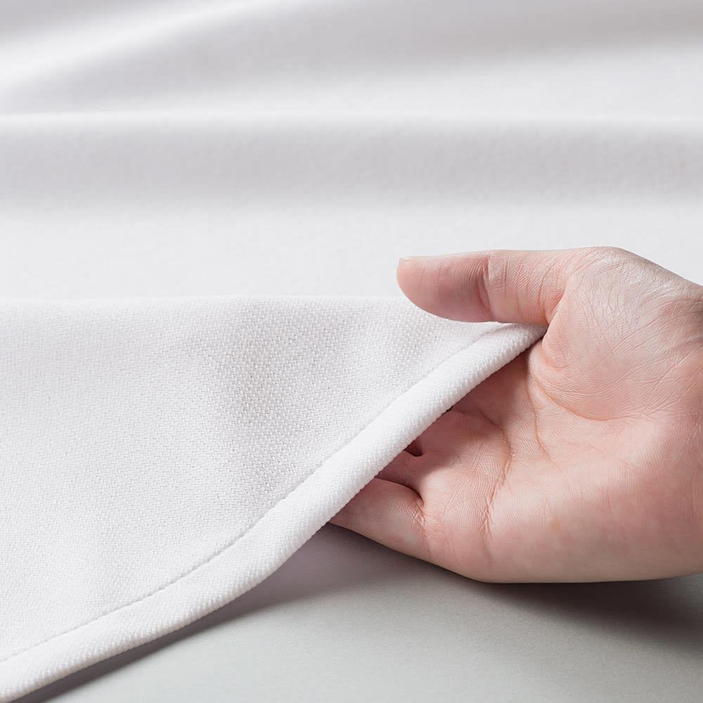 新ウェーブロン(R)使用レースカーテン(2枚組) 【幅100×丈176cm・幅100×丈198cm】 やわらかさの秘密は「8の字組織」構造 タテ糸とヨコ糸の編み構造を改良した厚みのある生地を採用。さらに糸と糸の可動域が増す立体構造のため、しなやかで風合いのある生地になりました。