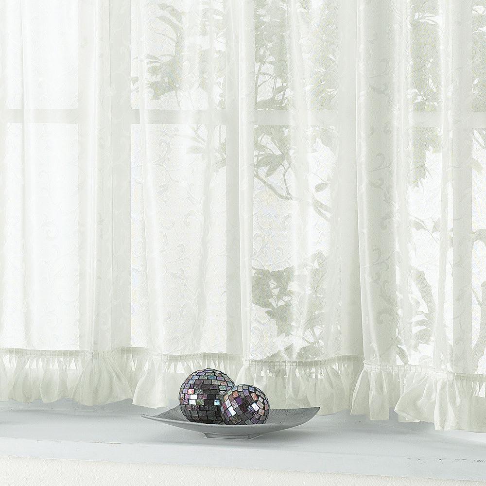 ウェーブロン(R)+(プラス)使用 出窓用カーテン 丈80cm 対応窓幅150~200cm