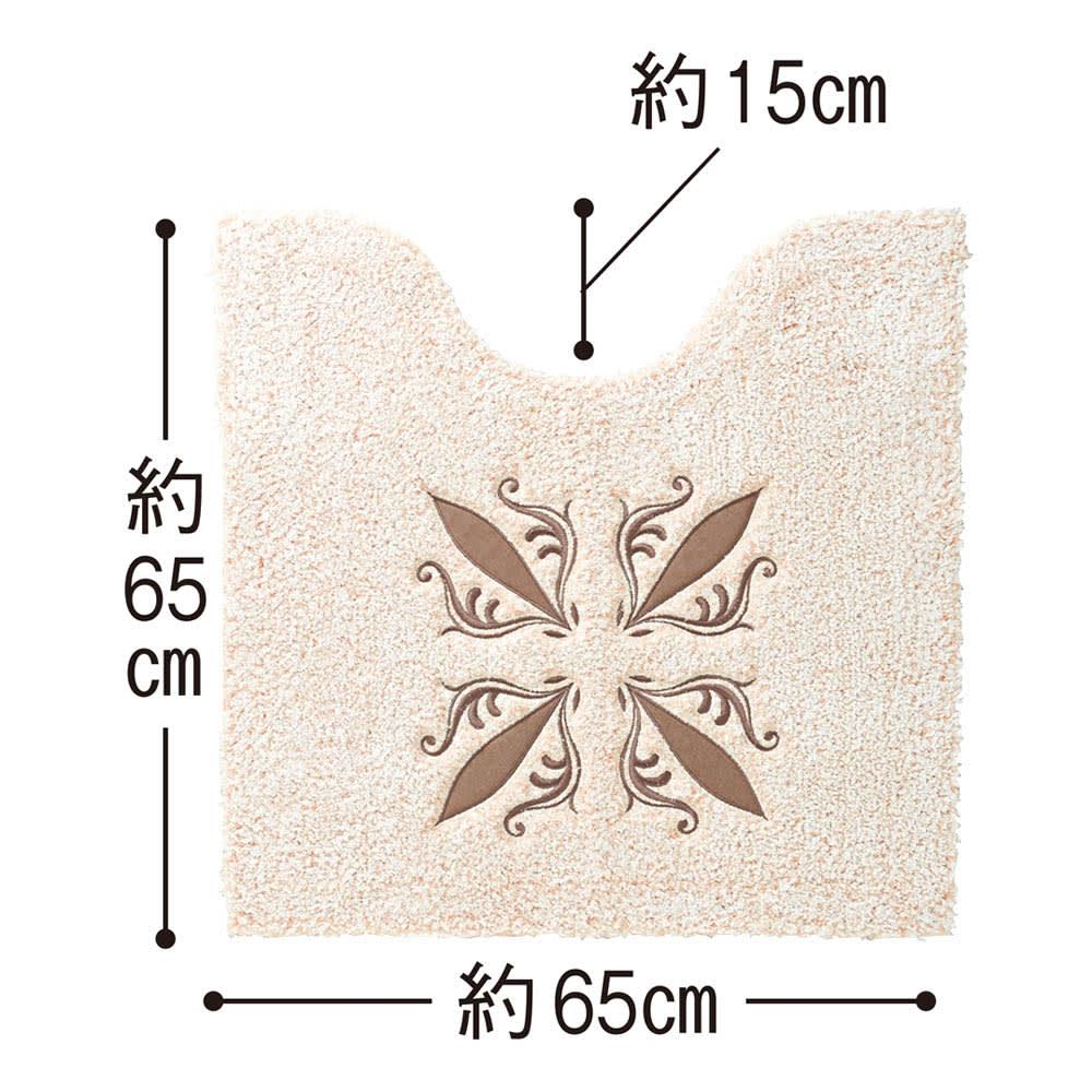 サフィー トイレタリー フタカバー(洗浄暖房器用)・マットセット [普通トイレマット] (イ)ベージュ系