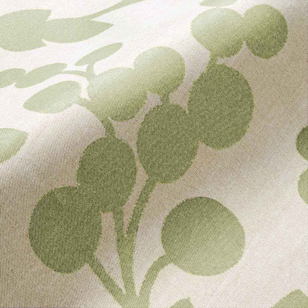 目隠し1級遮光・はっ水カフェカーテン 対応窓幅70~110cm(生地幅144cm) [生地アップ] (イ)グリーン