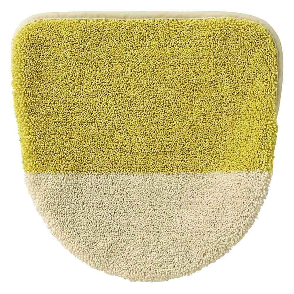 北欧調抗菌防臭吸水トイレタリー フタカバー(洗浄暖房器用)・マットセット (ア)マスタード系